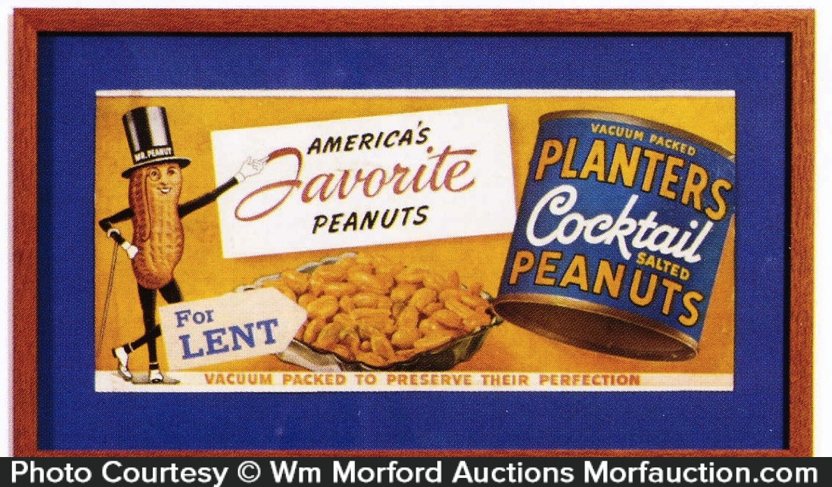 Planters Cocktail Peanuts Sign