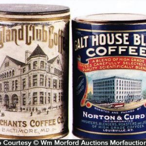 Vintage Paper Label Coffee Cans