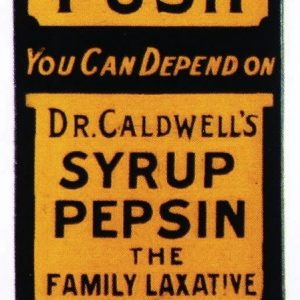 Dr. Caldwell's Syrup Door Push