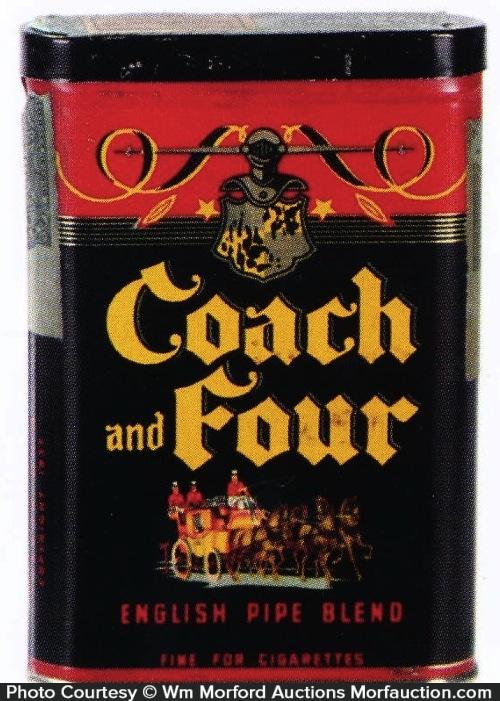 Coach and Four Tobacco Tin