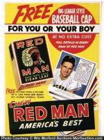 Red Man Tobacco Baseball Cards Sign