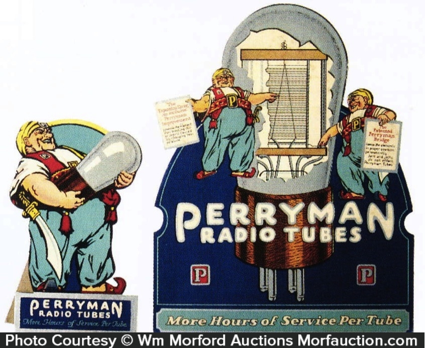Perryman Radio Tubes Display