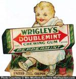 Wrigley's Doublemint Gum Sign
