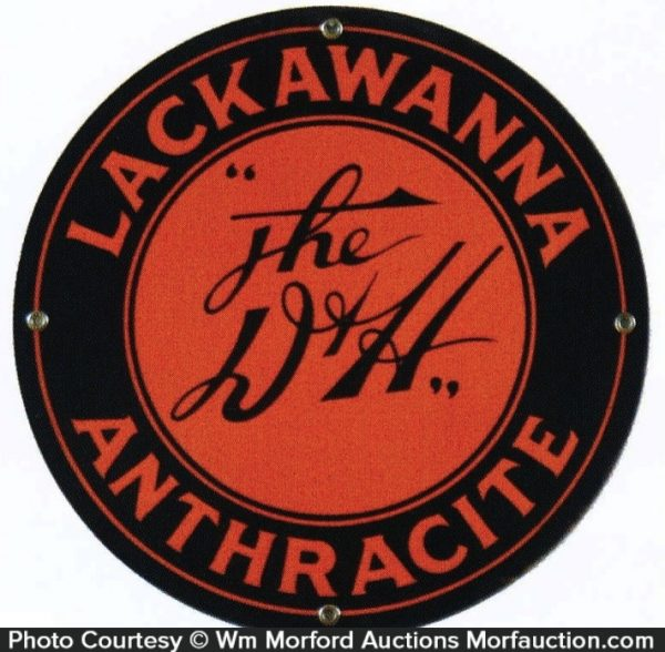 D&H Railroad Lackawanna Coal Sign