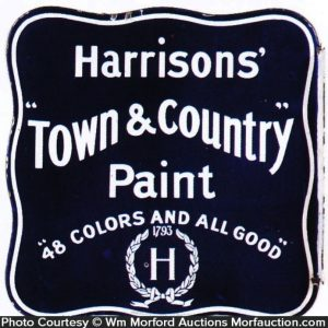 Harrisons' Town & Country Paint Sign