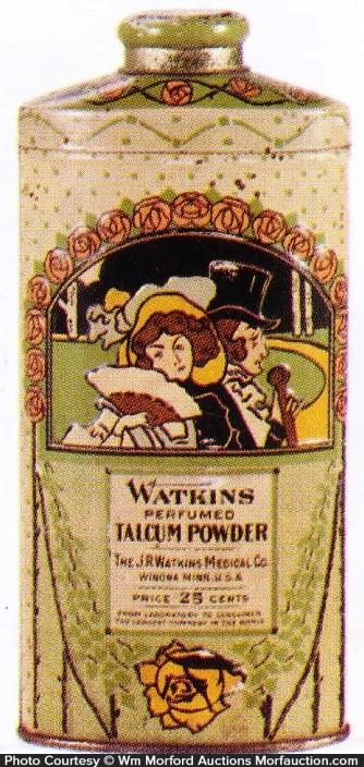 Watkins Talcum Powder Tin