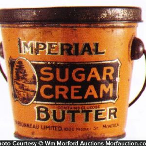 Imperial Sugar Cream Butter Pail