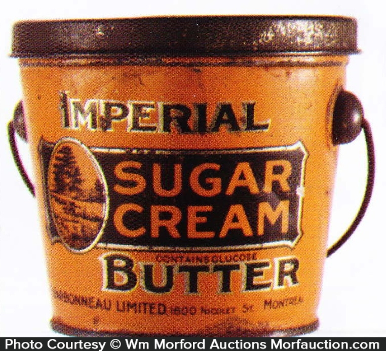 Imperial Sugar Cream Butter Pail