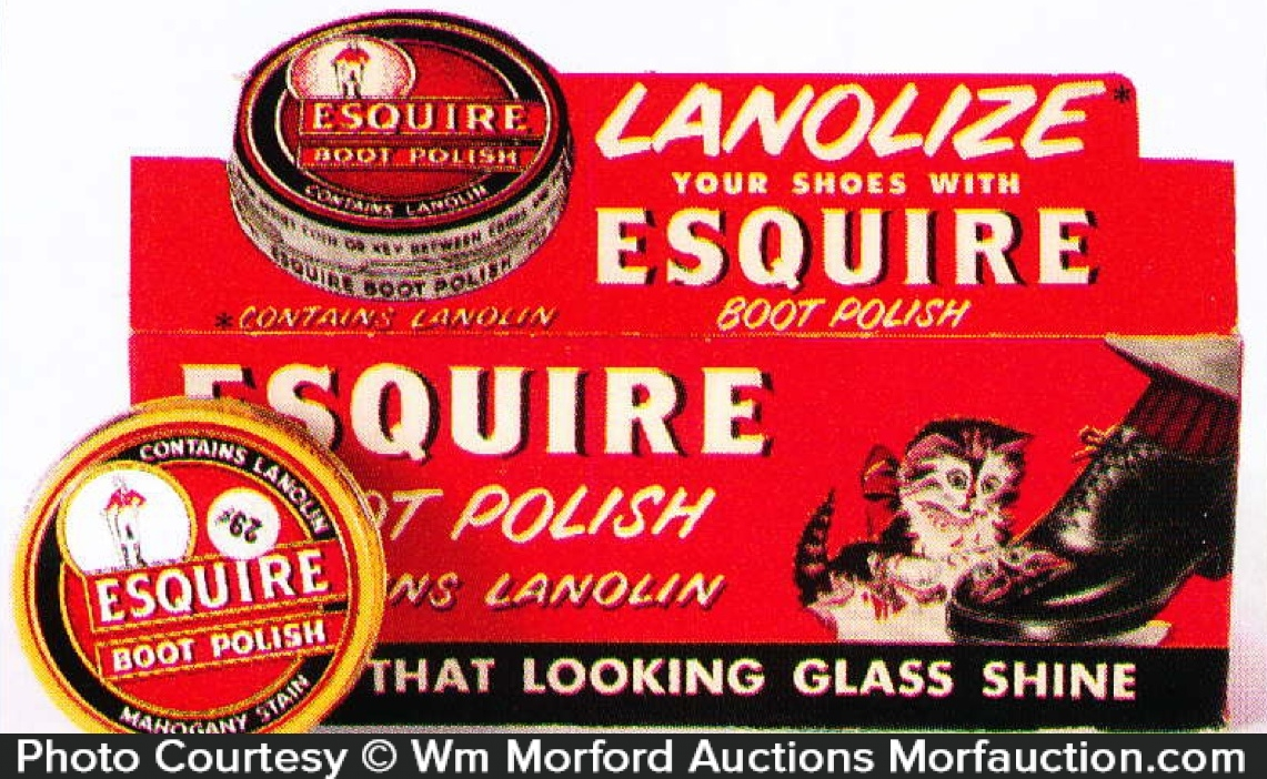 Esquire Boot Polish Display
