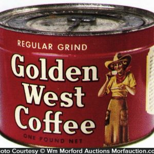 Golden West Key Wind Coffee Can