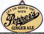 Pepper's Ginger Ale Sign