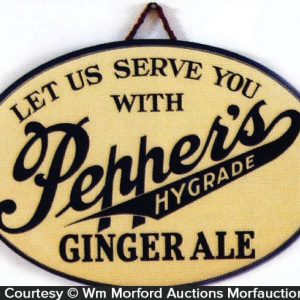 Pepper's Ginger Ale Sign