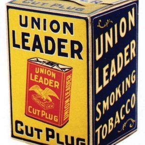 Union Leader Cut Plug Tobacco Box