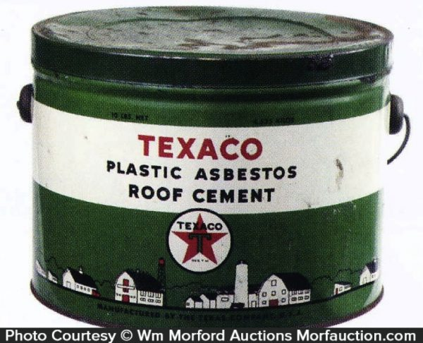Texaco Roof Cement Pail