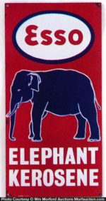 Esso Elephant Kerosene Sign