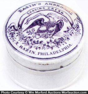 Bazin's Shaving Cream Pot Lid