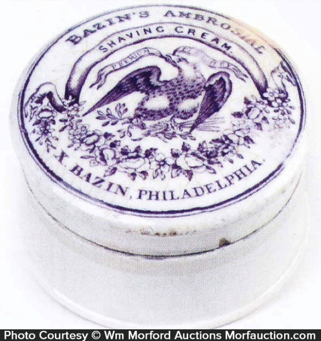 Bazin's Shaving Cream Pot Lid