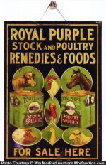 Royal Purple Stock Remedies Sign