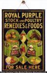 Royal Purple Stock Remedies Sign