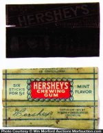 Hershey's Gum Wrappers