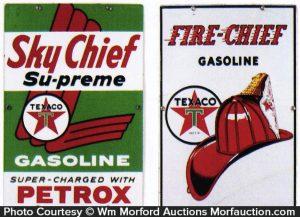 Texaco Gasoline Pump Signs