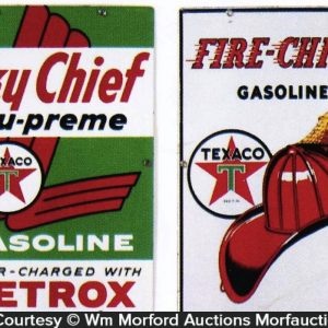 Texaco Gasoline Pump Signs