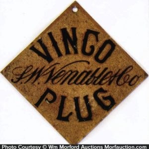 Vingo Plug Tobacco Sign