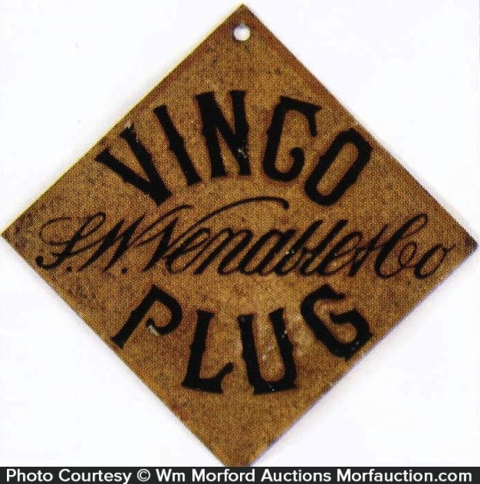 Vingo Plug Tobacco Sign
