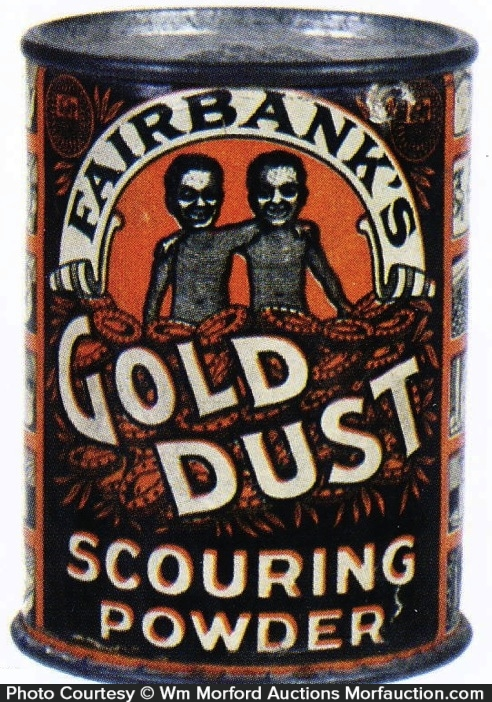 Gold Dust Scouring Powder Tin Sample