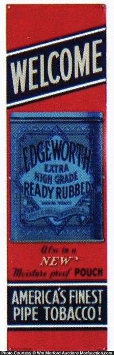 Edgeworth Tobacco Door Push