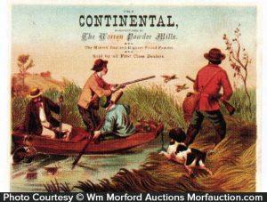 Continental Gun Powder Trade Card