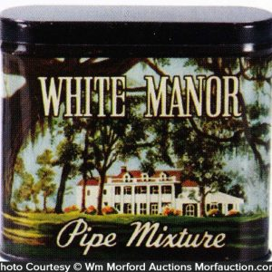 White Manor Tobacco Tin