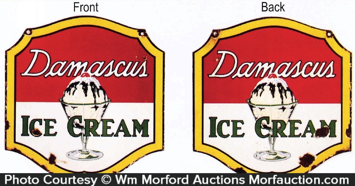 Damascus Ice Cream Sign