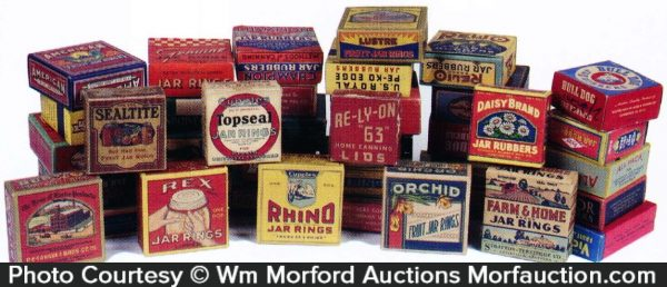 Vintage Canning Jar Rings Boxes