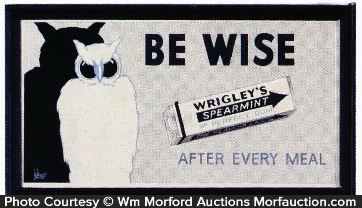 Wrigley's Owl Art Sign