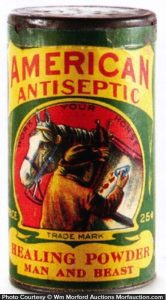American Antiseptic Powder Tin