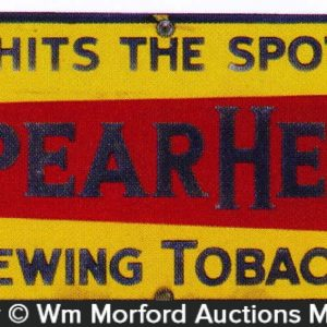 Spear Head Tobacco Sign