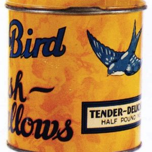 Blue Bird Marshmallow Tin