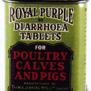 Royal Purple Diarrhoea Tablets Tin