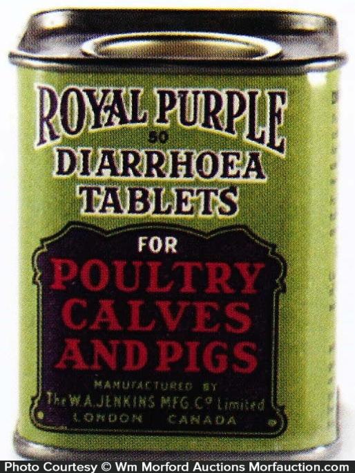 Royal Purple Diarrhoea Tablets Tin