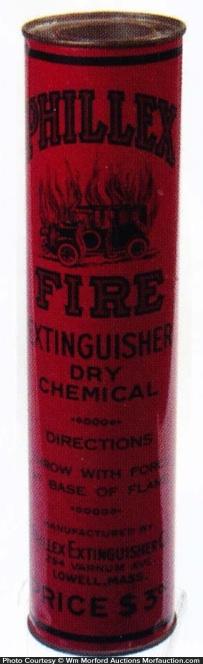 Phillex Fire Extinguisher Tin
