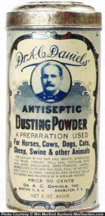 Dr. Daniels Dusting Powder Tin