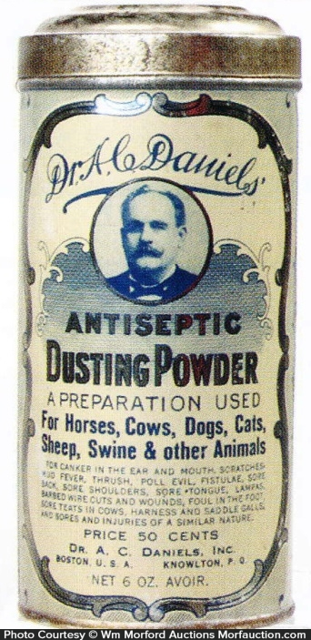 Dr. Daniels Dusting Powder Tin