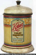 Koken Toilet Requisites Tin Container