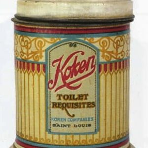 Koken Toilet Requisites Tin Container