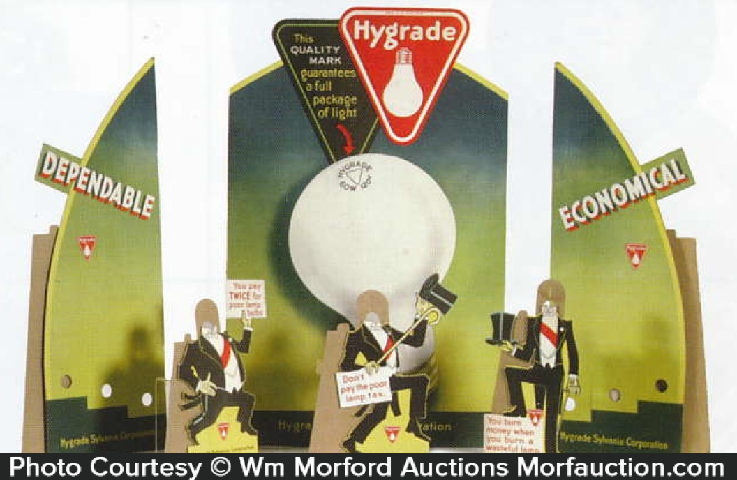 Sylvania Hygrade Light Bulbs Display