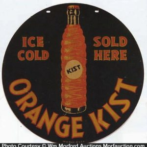 Orange Kist Bottle Sign