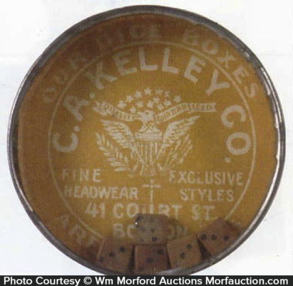 C. A. Kelley Advertising Dice Game Mirror
