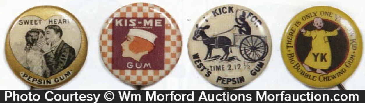 Vintage Gum Pins