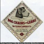 George Lawrence Dog Chains Sign